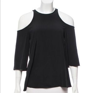 Black Tibi silk top